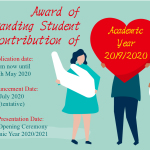 2019-2020 Award of Outstanding Student Contribution