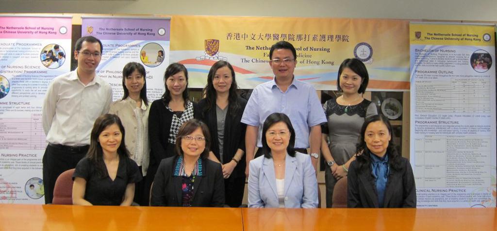 學院代表與香港中文大學那打素護理學院代表合照