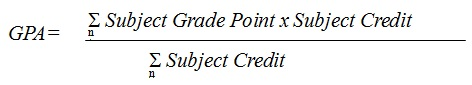 The Grade Point Average (GPA) Formula