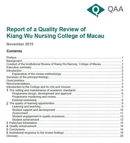 QAA-Report