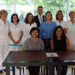 尹院長與Dr. Isabel Maria Pereira Aníbal Vaz簽署合作備忘錄