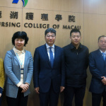 吳岩司長 (左四) 訪學院期間與學院及高等教育局一眾代表合影